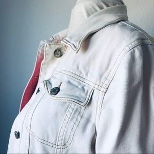 Free People's Simple Ivory Denim Jacket